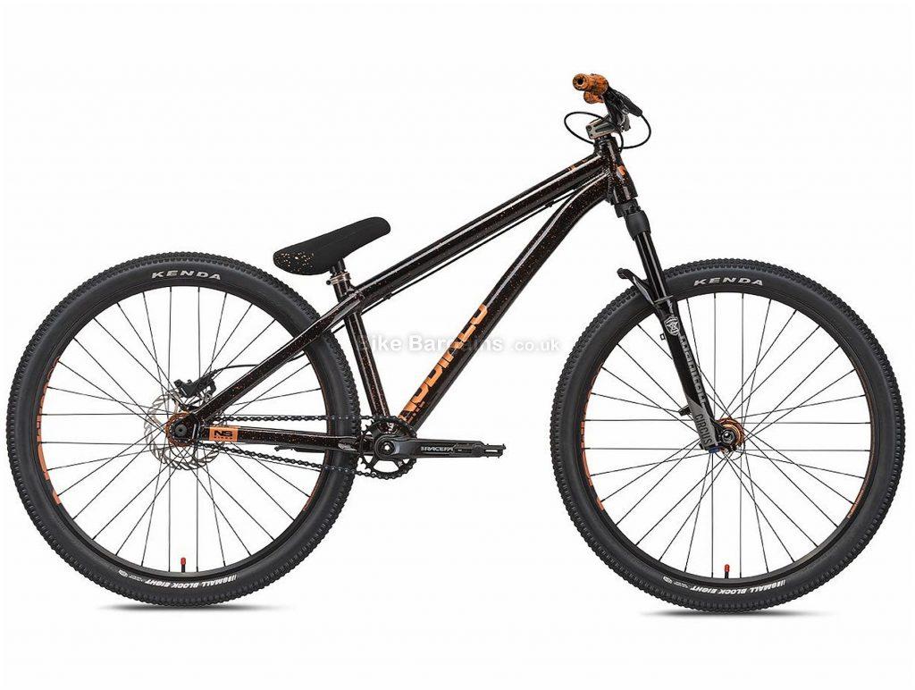 "NS Bikes Movement 1 Dirt Jump Alloy Hardtail Mountain Bike 2020 M, Black, 1 Speed, Alloy Frame, 26"" Wheels, Disc Brakes, Hardtail"