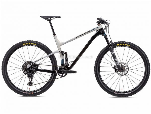 "NS Bikes Synonym 2 Carbon Full Suspension Mountain Bike 2020 S, Black, White, 12 Speed, Carbon Frame, 29"" Wheels, Disc Brakes, Full Suspension, 12.4kg"