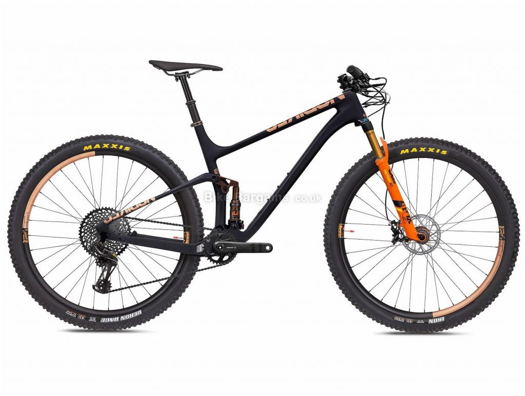 "NS Bikes Synonym Race 1 Carbon Full Suspension Mountain Bike 2020 M, Black, Orange, 12 Speed, Carbon Frame, 29"" Wheels, Disc Brakes, Full Suspension, 10.5kg"