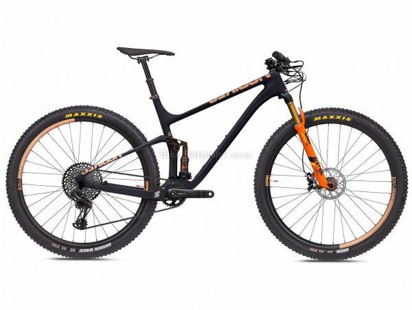 "NS Bikes Synonym Race 1 Carbon Full Suspension Mountain Bike 2020 M, Black, Orange, 12 Speed, Carbon Frame, 29"" Wheels, Disc Brakes, Full Suspension, 10.5kg"