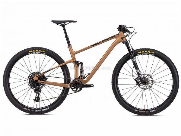 "NS Bikes Synonym Race 2 Carbon Full Suspension Mountain Bike 2020 S, Brown, Black, 12 Speed, Carbon Frame, 29"" Wheels, Disc Brakes, Full Suspension, 11.4kg"