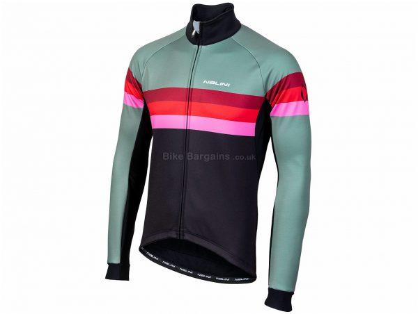 Nalini AIW Crit 2.0 Warm Jacket S, Black, Green, Red, Pink, Long Sleeve, Men's, Polyamide, Elastane, Polyester