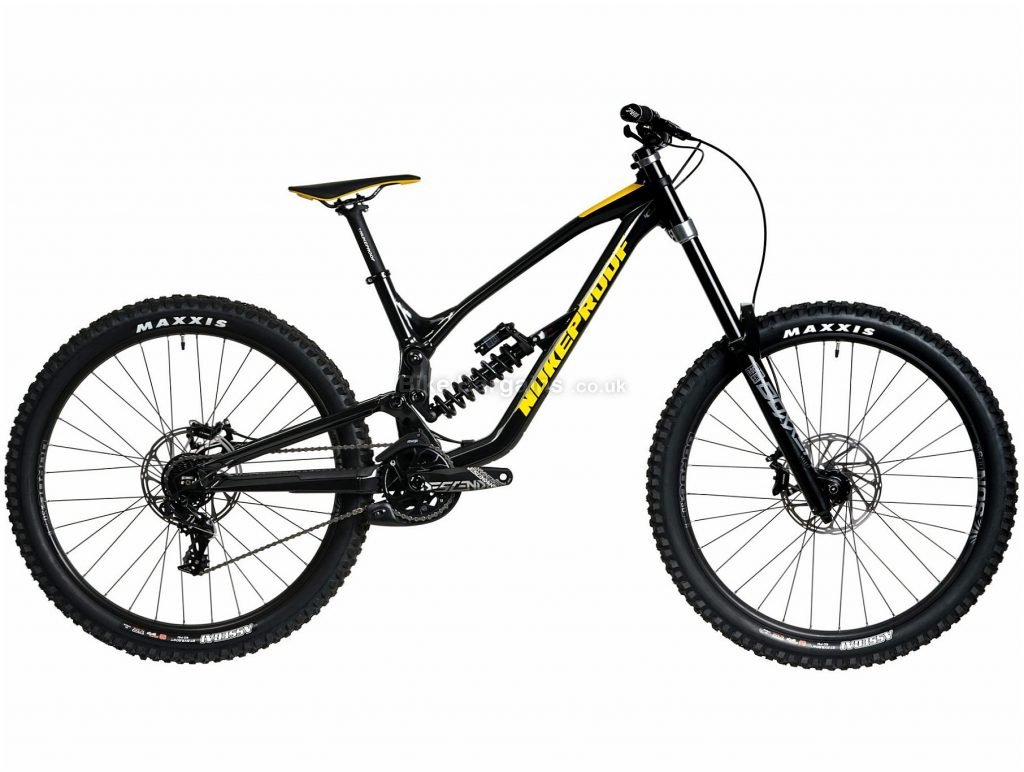 "Nukeproof Dissent 275 Comp Alloy Full Suspension Mountain Bike 2020 S, Black, Yellow, 11 Speed, Alloy Frame, 27.5"" Wheels, Disc Brakes, Full Suspension"
