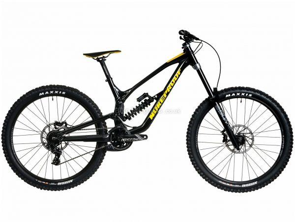 "Nukeproof Dissent 275 Comp Alloy Full Suspension Mountain Bike 2020 S, Black, Yellow, 11 Speed, Alloy Frame, 27.5"" Wheels, Disc Brakes, Full Suspension"