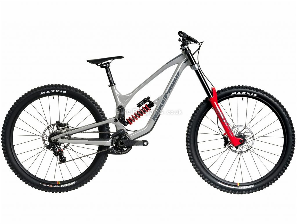 "Nukeproof Dissent 290 RS XO1 DH Alloy Full Suspension Mountain Bike 2020 M, Grey, Red, 7 Speed, Alloy Frame, 29"" Wheels, Disc Brakes, Full Suspension"