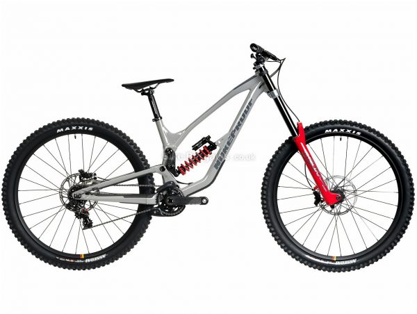 """Nukeproof Dissent 290 RS XO1 DH Alloy Full Suspension Mountain Bike 2020 M, Grey, Red, 7 Speed, Alloy Frame, 29"""" Wheels, Disc Brakes, Full Suspension"""