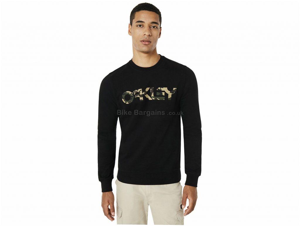 Oakley B1B Crew Neck Long Sleeve T-Shirt S,M,XL,XXL, Grey, Men's, Long Sleeve, Cotton