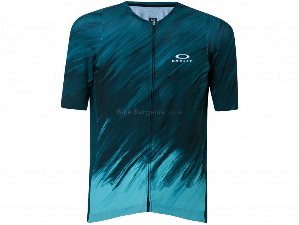 Oakley Endurance 2.0 Short Sleeve Jersey XS,S,M,L,XL,XXL, Black, Yellow, Unisex, Short Sleeve, Polyester, Elastane