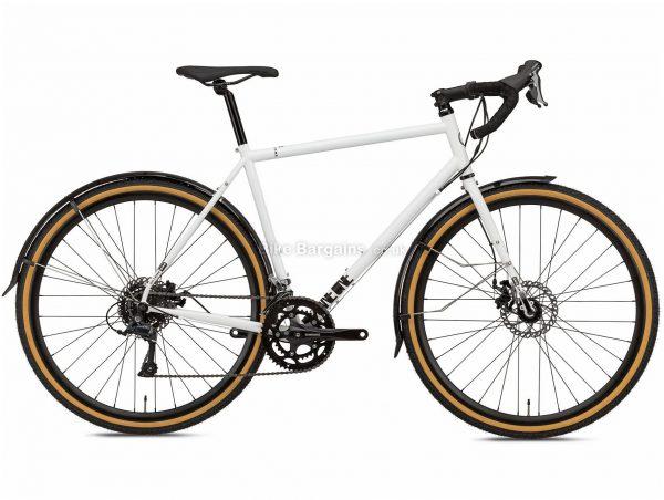 Octane One Kode ADV Commuter Steel Road Bike 2020 L, White, Black, 16 Speed, Steel Frame, 700c Wheels, Disc Brakes