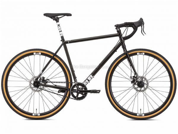 Octane One Kode Steel Commuter Road Bike 2019 S, Black, White, Steel Frame, Disc Brakes, Single Speed, 700c Wheels, Single Chainring