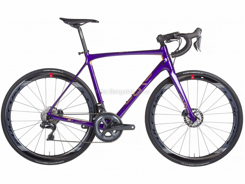 Orro Gold Signature Ultegra Di2 Carbon Road Bike 2020 XL, Purple, Gold, 22 Speed, Carbon Frame, 700c Wheels, Disc Brakes