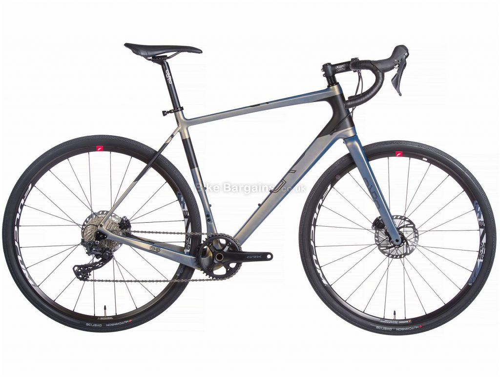 Orro Terra C Adventure GRX600 Carbon Gravel Bike 2020 XL, Grey, Blue, 11 Speed, Carbon Frame, 700c Wheels, Disc Brakes