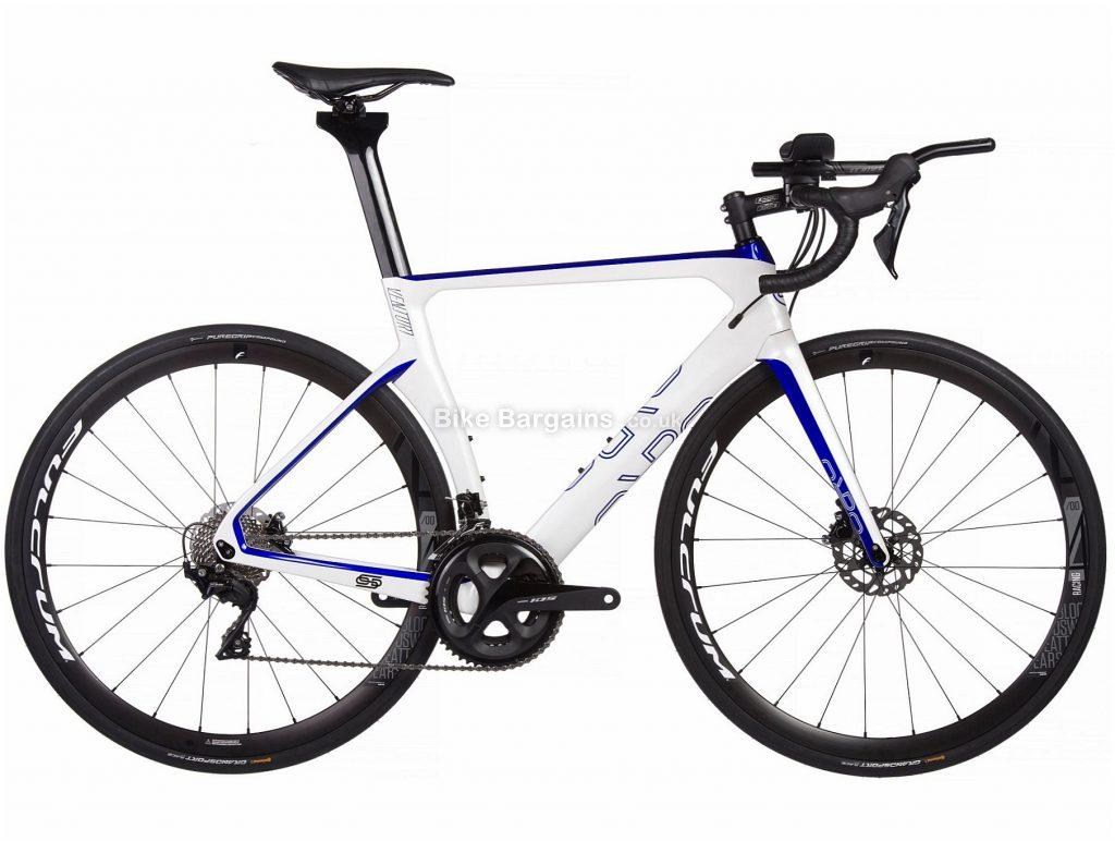 Orro Venturi Evo TRI 7020 R400 Carbon Road Bike 2020 M, White, Blue, 22 Speed, Carbon Frame, 700c Wheels, Disc Brakes