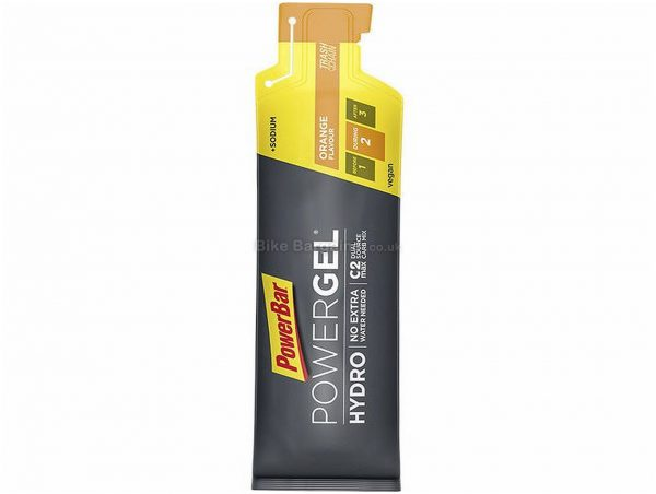 PowerBar PowerGel Hydro Gels 24 pack 24 x Orange, 67ml, Orange, Grey, 67g