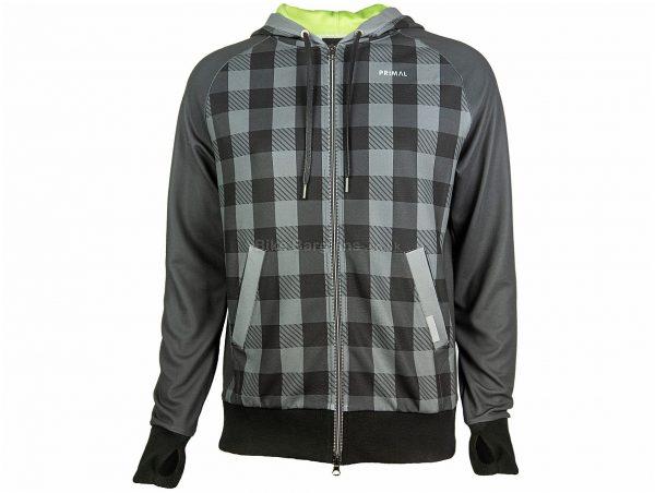 Primal Bross Tracer Hoodie S, Grey, Black, Men's, Long Sleeve, Polyester
