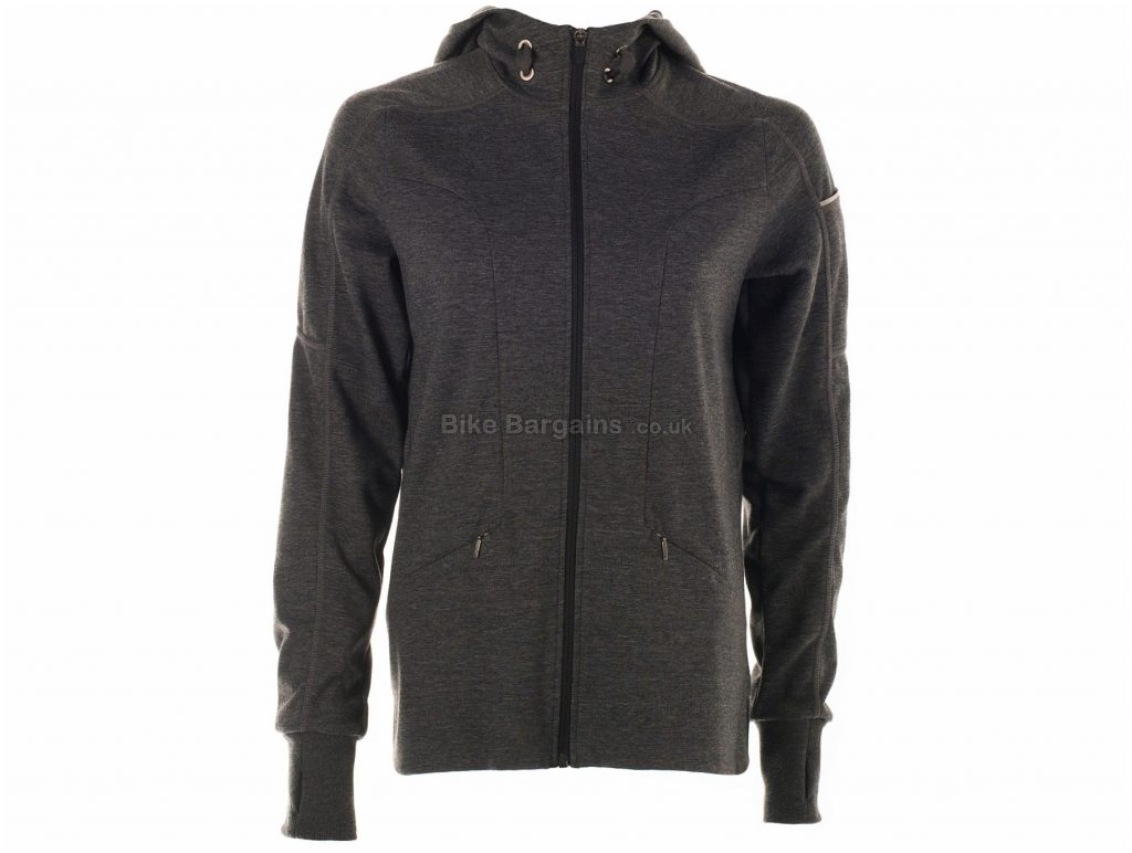 Primal Ladies Opus Hoodie XXL, Grey, Ladies, Long Sleeve, Polyester