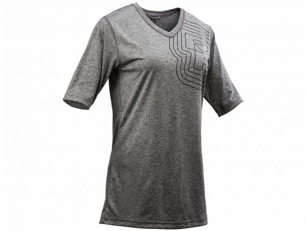 Race Face Charlie Ladies Short Sleeve Jersey XS, Grey, Ladies, Short Sleeve, Polyester