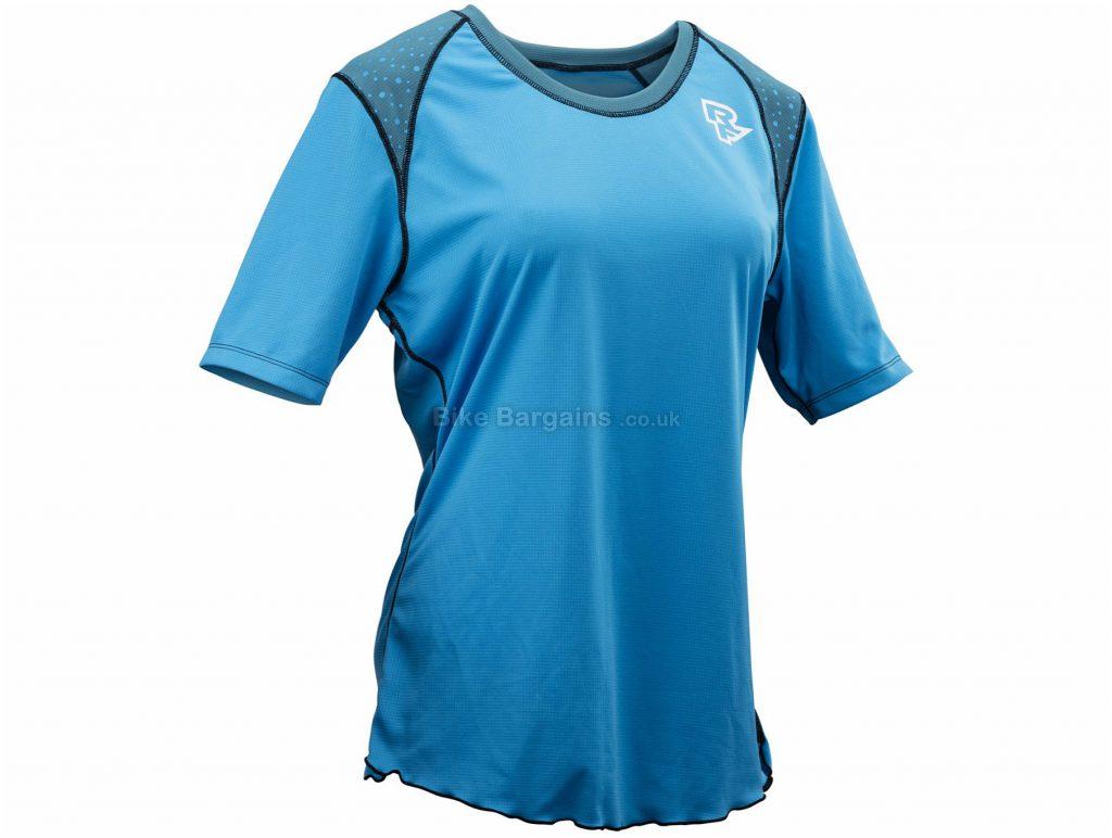 Race Face Indiana Ladies Short Sleeve Jersey 2018 XS, Black, Grey, Ladies, Short Sleeve, Polyester