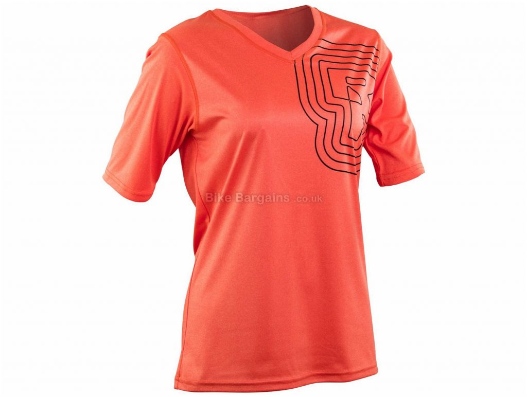 Race Face Ladies Charlie Tech Short Sleeve Jersey XS, Brown, Ladies, Short Sleeve, Polyester