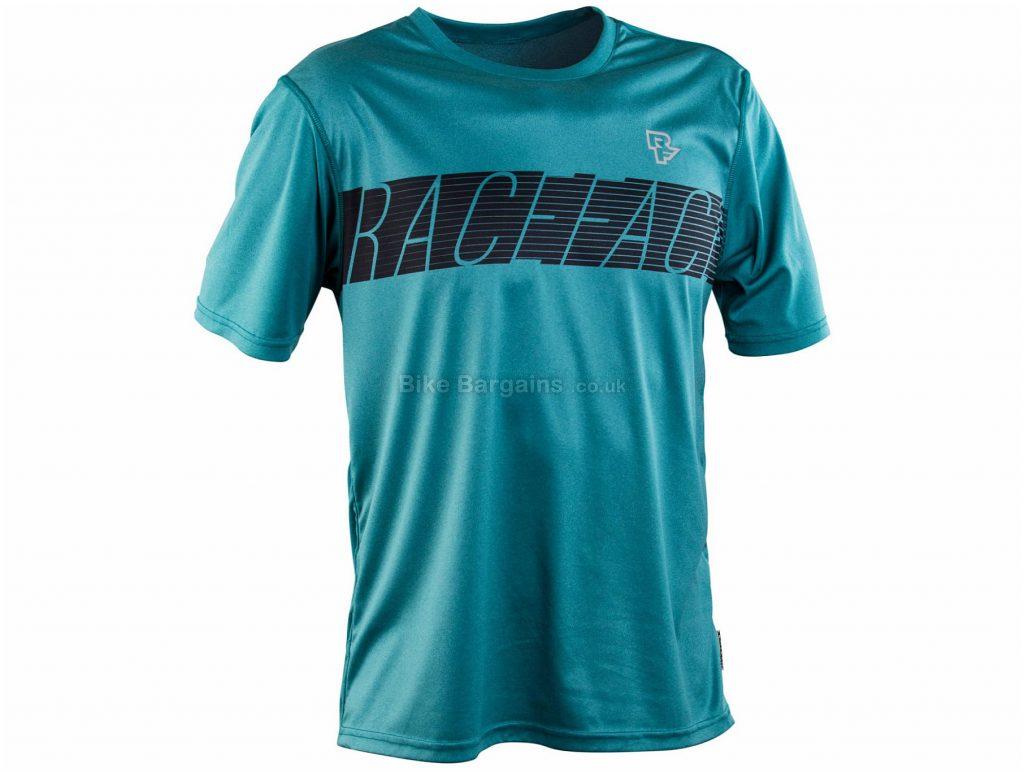 Race Face Trigger Torino Tech Short Sleeve Jersey XL, Turquoise, Men's, Short Sleeve, Polyester