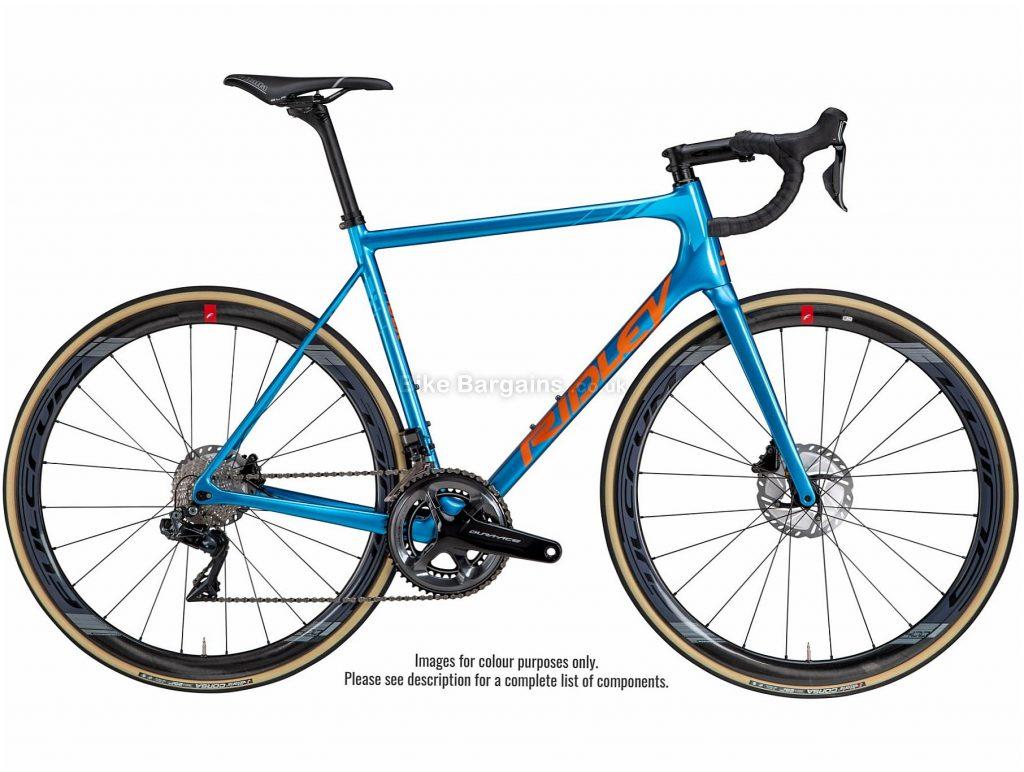 Ridley Helium SLX Disc Ultegra Carbon Road Bike 2020 M, Blue, Orange, 22 Speed, Carbon Frame, 700c Wheels, Disc Brakes