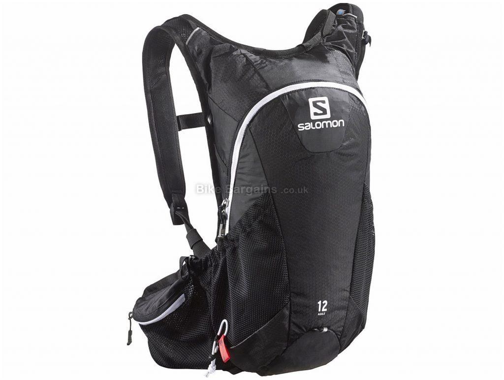 Salomon Agile 12 Hydration Pack 12 Litres, Black, White, 45cm, 22cm, 13cm, 380g, Nylon