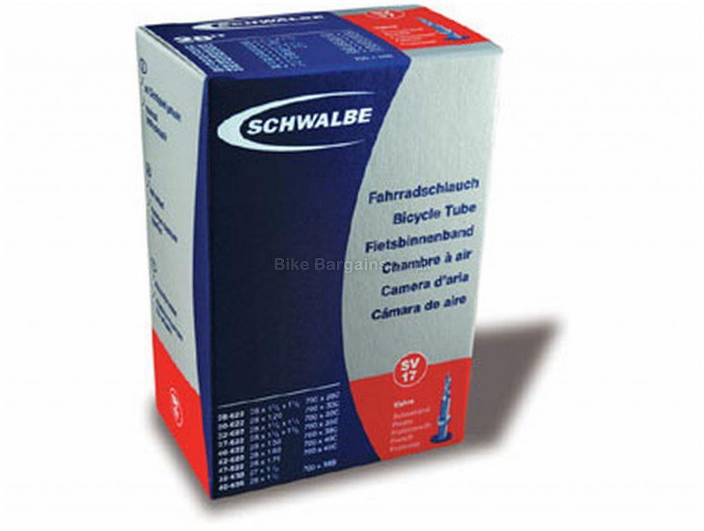 """Schwalbe AV/SV12A 26"""" MTB Inner Tube 26"""", Black, Schrader - Presta is extra"""
