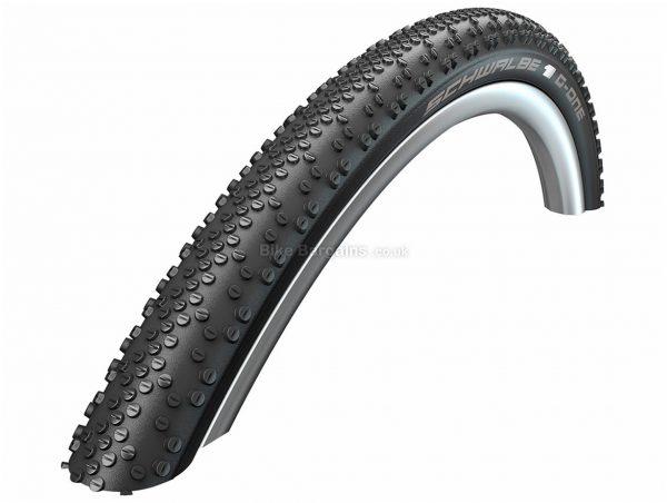 Schwalbe G-One Bite Evolution TL-Easy OneStar Folding Gravel Tyre 700c, 45c, Black, Folding, 460g, Kevlar, Rubber