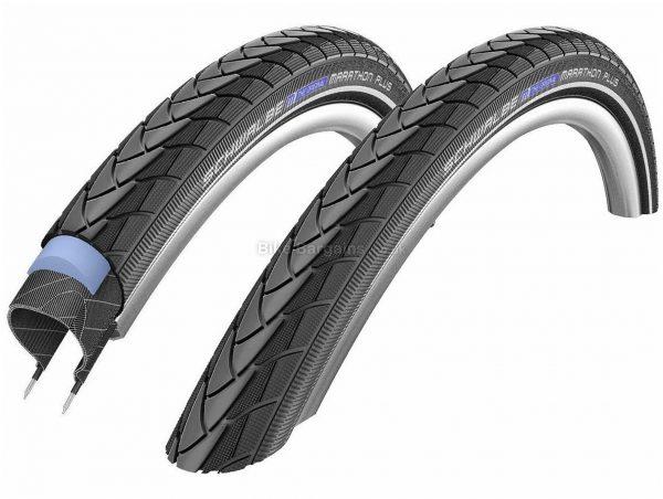 Schwalbe Marathon Plus SmartGuard Tyres Pair 35c, 700c, Black, Wire, Steel, Rubber, 1.8kg, Front & Rear