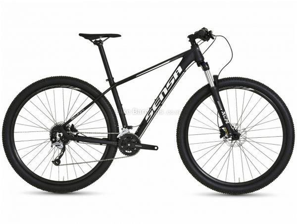 """Sensa Sella Evo Alloy Hardtail Mountain Bike 2021 19"""", Black, Disc Brakes, Triple Chainring, 27 Speed, Hardtail, 29"""", Alloy"""