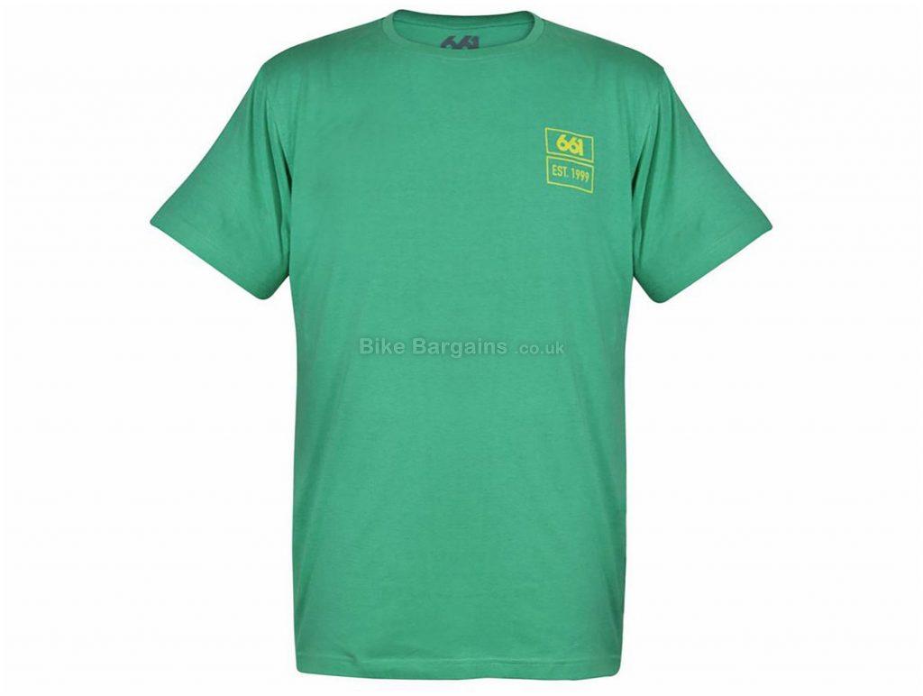 SixSixOne EST T-Shirt XL, Green, Short Sleeve, Cotton