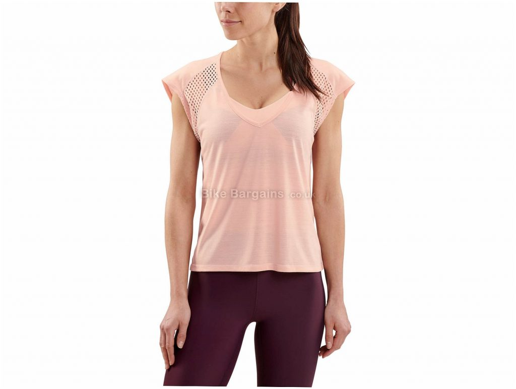 Skins Activewear Ladies Odot T-Shirt S, Pink, Short Sleeve, Polyester