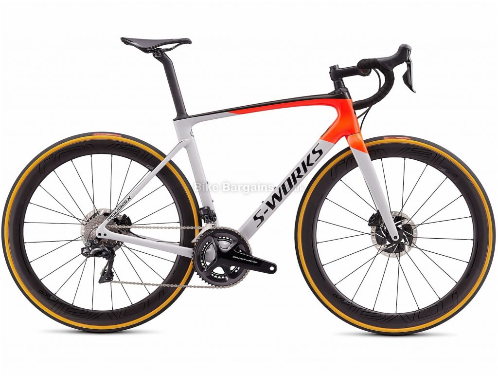 Specialized S-Works Roubaix Dura-ace Di2 Carbon Road Bike 2020 54cm, Grey, Red, Black, Disc, 22 Speed, Double Chainring, Carbon Frame