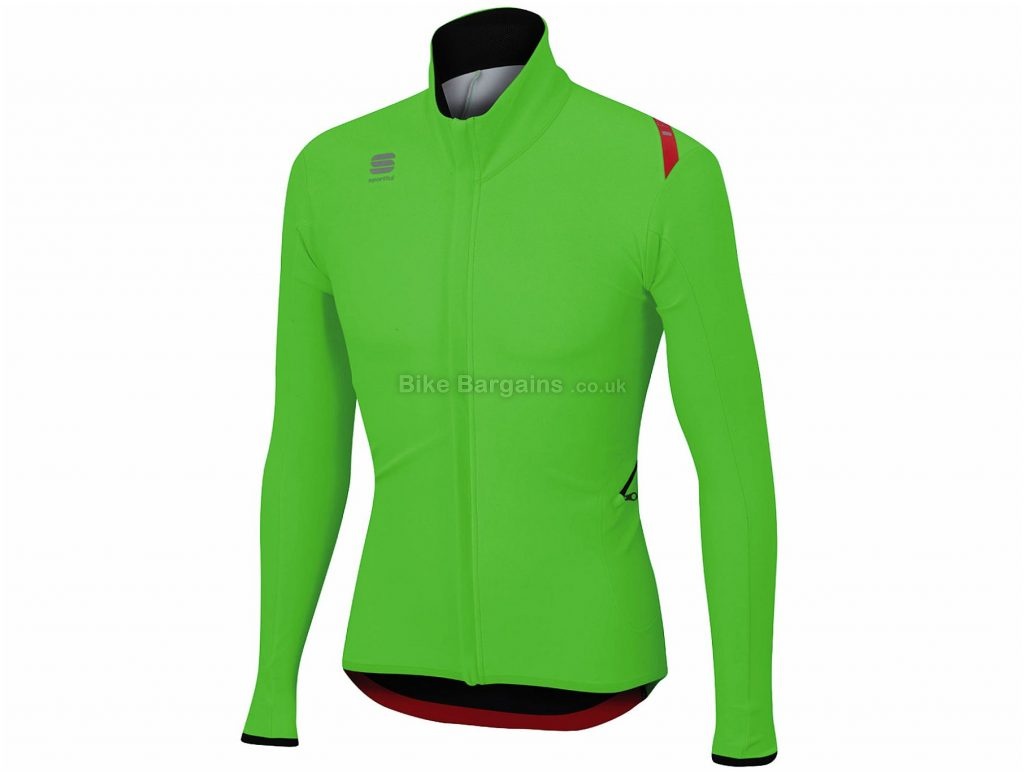 Sportful Fiandre Light Wind Jacket L, Green, Long Sleeve, Polyester, Polyamide, Elastane