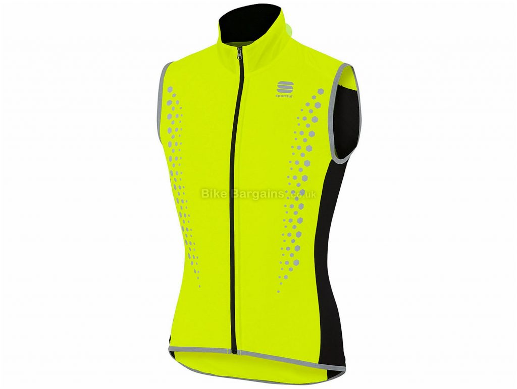 Sportful Hot Pack Hi-Viz Gilet L, Yellow, Sleeveless, Polyester