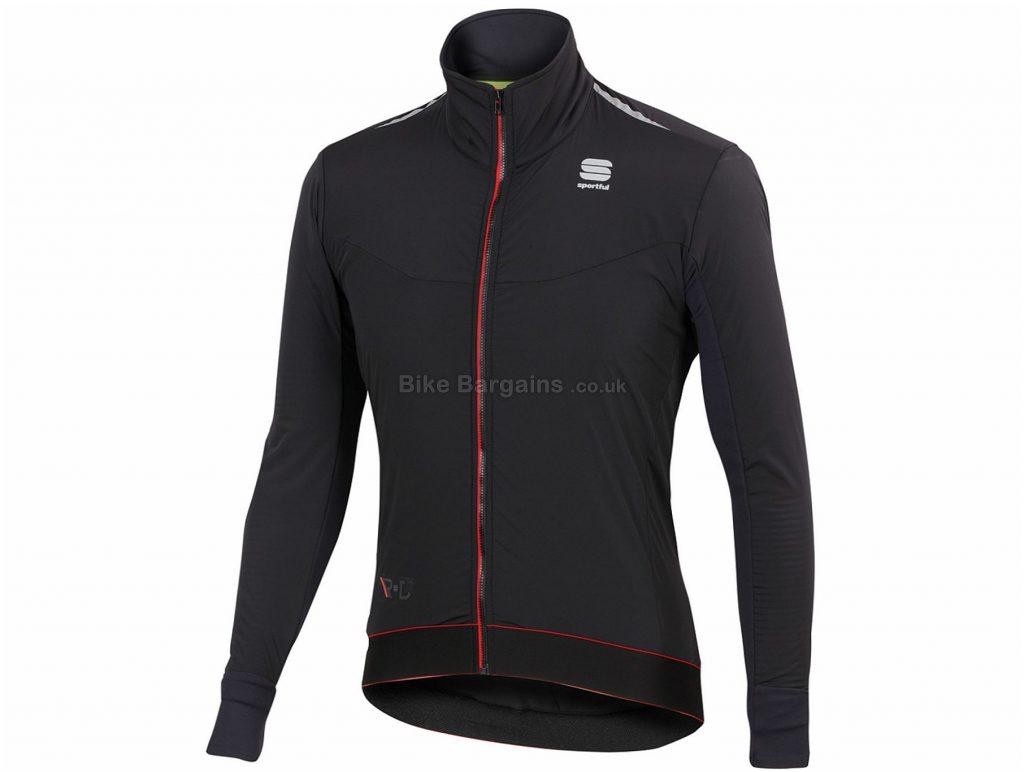 Sportful RandD Light Jacket L, Black, 420g, Long Sleeve, Polyester, Polyamide, Elastane