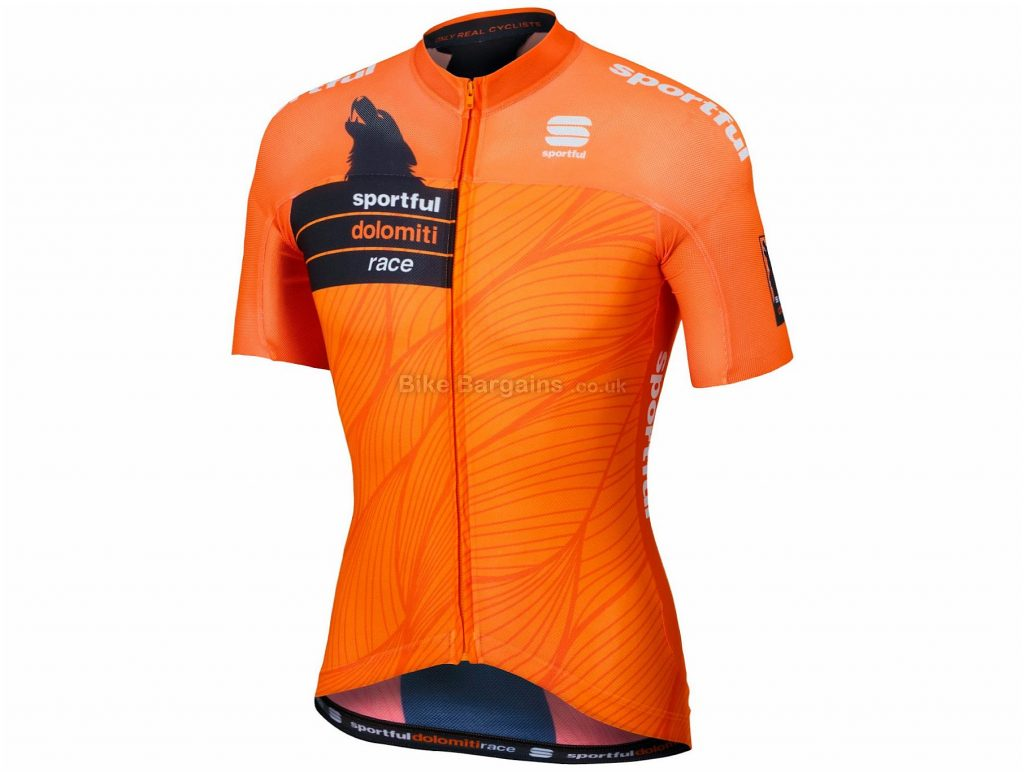 Sportful SDR Short Sleeve Jersey L, Orange, Black, Short Sleeve, Polyester