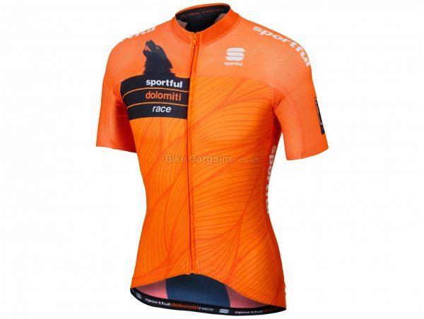 Sportful SDR Short Sleeve Jersey L, Orange, Black, Short Sleeve, Polyester