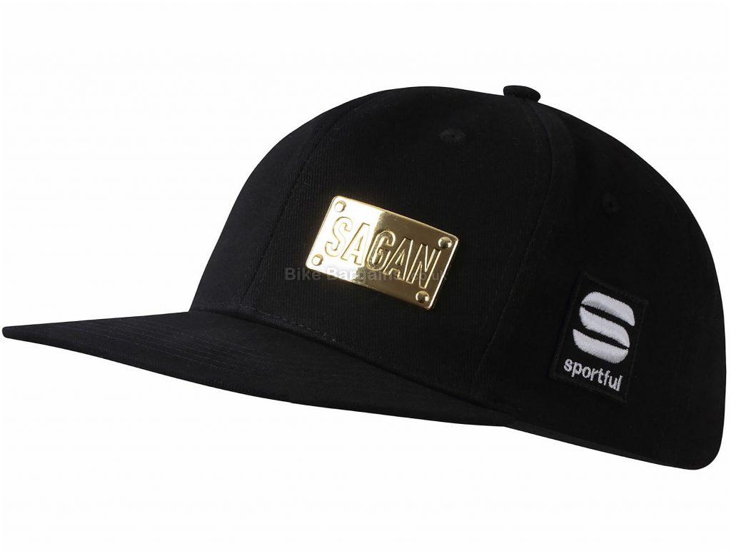 Sportful Sagan Gold Snap Cap One Size, Black, Gold, Cotton