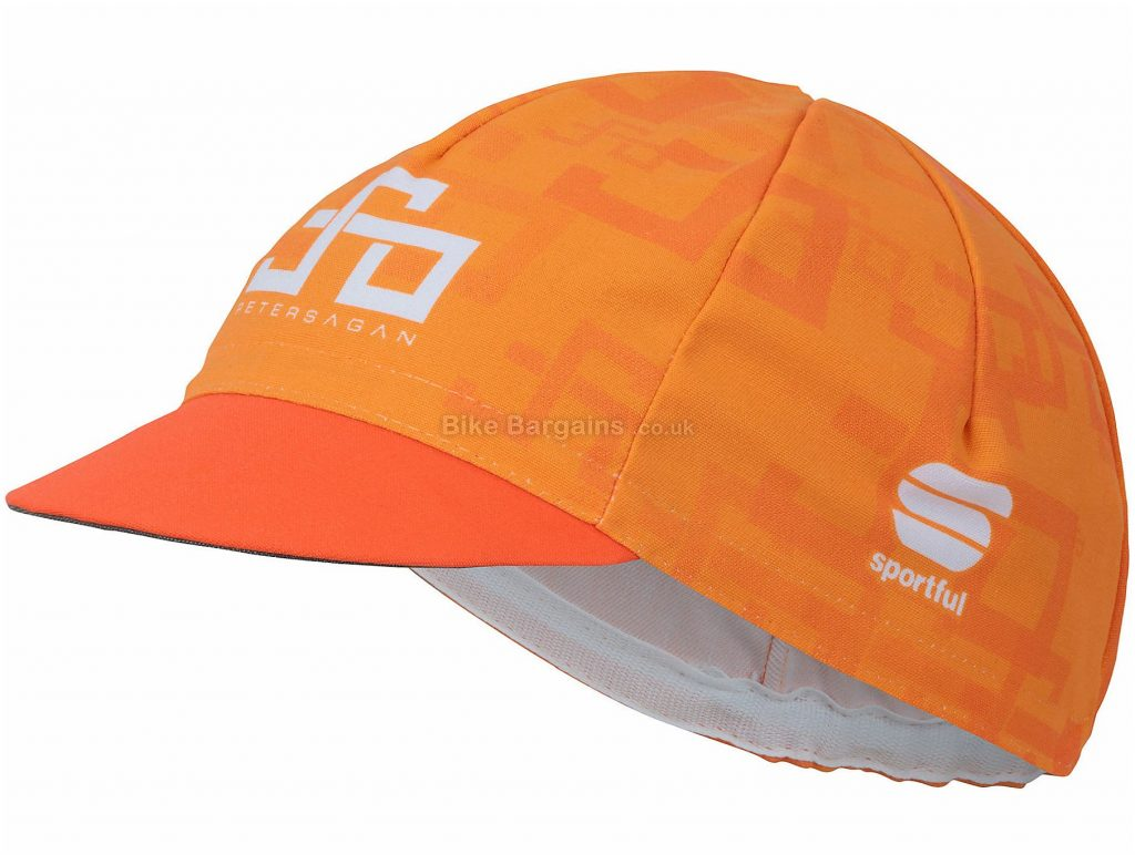Sportful Sagan Logo Cap One Size, Orange - Grey is extra, Polyester, Cotton