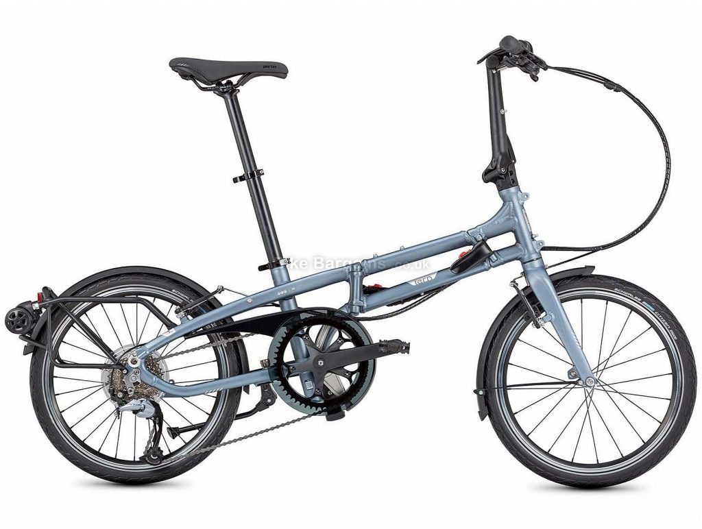 "Tern BYB P8 Alloy Folding City Bike 2020 One Size, Blue, 8 Speed, Alloy Frame, 20"" Wheels, Caliper Brakes, 14.3kg"