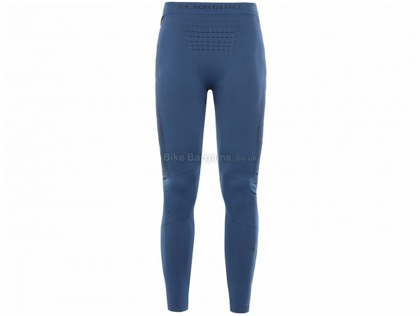 The North Face Ladies Sport Baselayer Tights XS,S are extra, Blue, Polyamide, Polypropylene, Elastane