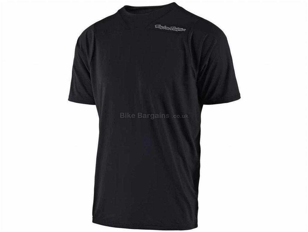 Troy Lee Designs Skyline Short Sleeve MTB Jersey 2018 XL, Black, Blue, Short Sleeve, Polyester