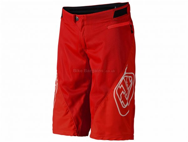 "Troy Lee Designs Sprint Baggy MTB Shorts 28"", Red, Shell only, Polyester, Spandex"