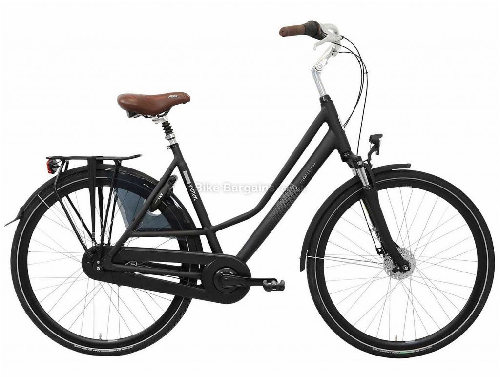 Van Tuyl Lunar N8 Extra Ladies Alloy City Bike 2020 53cm, Black, 8 Speed, Alloy Frame, 700c Wheels, Caliper Brakes, 18.3kg