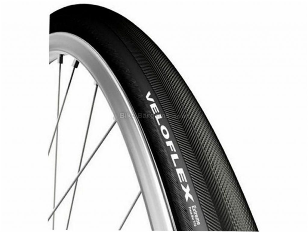 Veloflex Extreme Tubular Road Tyre 700c, 22c, Black, 225g, Presta, Rubber