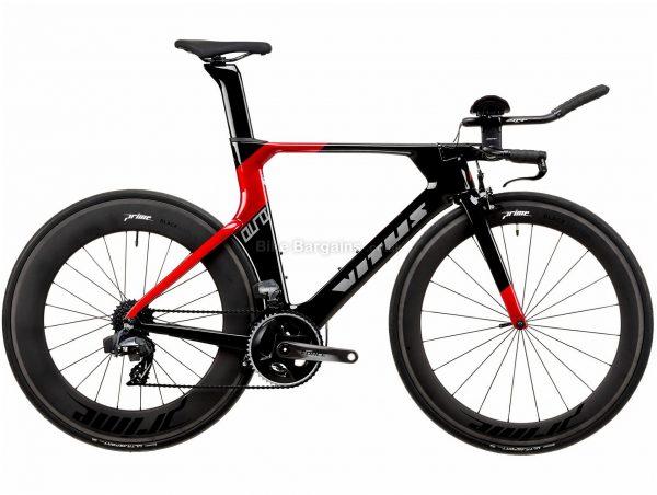 Vitus Auro TEAM eTap Force Carbon TT Road Bike 2020 XL, Black, Red, 24 Speed, Carbon Frame, 700c Wheels, Caliper Brakes