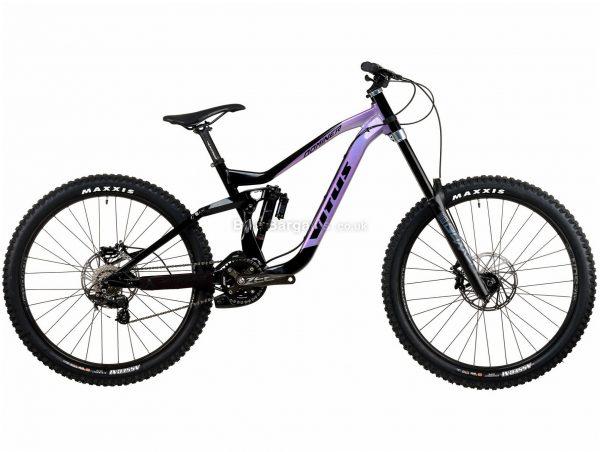 """Vitus Dominer DH Zee Alloy Full Suspension Mountain Bike 2020 M, Purple, Black, 10 Speed, Alloy Frame, 27.5"""" Wheels, Disc Brakes, Full Suspension"""