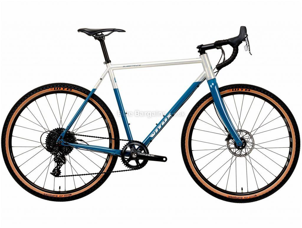 Vitus Substance SRS-1 Adventure Steel Gravel Bike 2020 XXL, Blue, White, 11 Speed, Steel Frame, 650c Wheels, Disc Brakes, 10.81kg