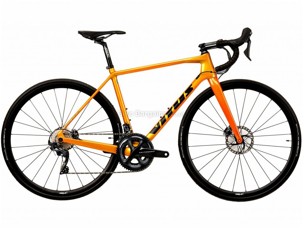 Vitus Vitesse EVO CRS Ultegra Carbon Road Bike 2020 S, Orange, Black, 22 Speed, Carbon Frame, 700c Wheels, Disc Brakes, 8.16kg